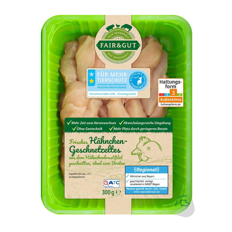 FAIR & GUT Hähnchen-Geschnetzeltes 300 g