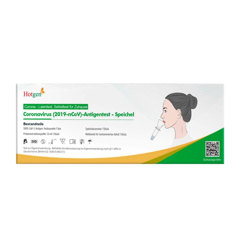 Hotgen Corona SARS-CoV-2 Antigen Speichel-/Spucktest 1er-Pack
