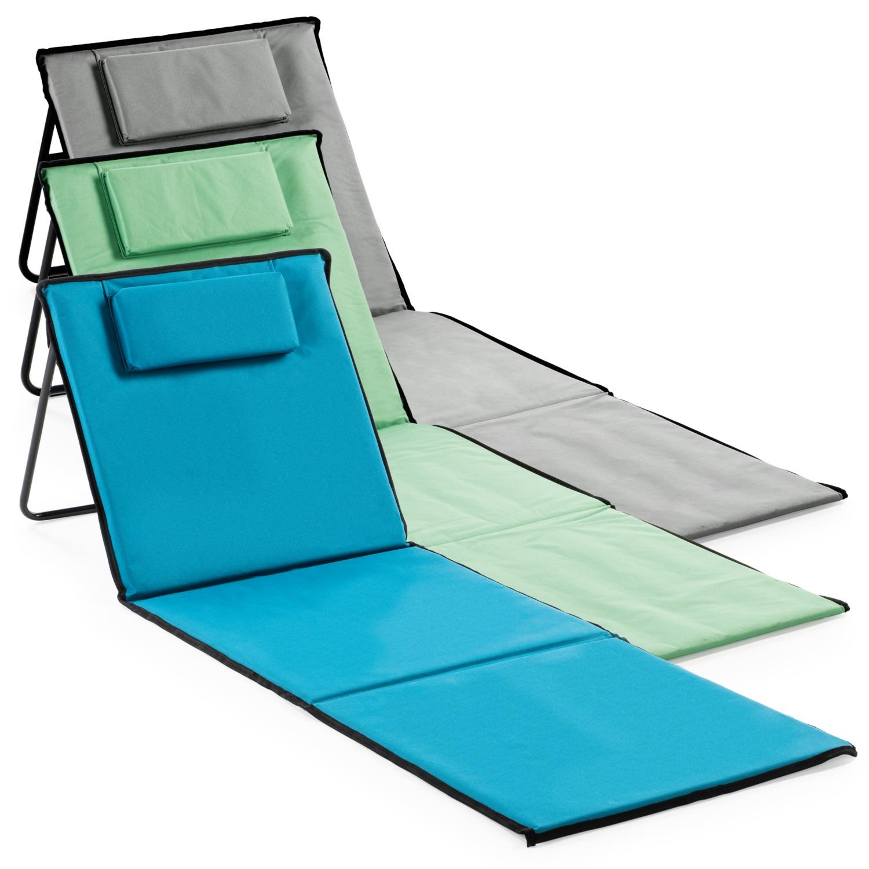 ADVENTURIDGE Camping-Strandmatte mit Rückenlehne