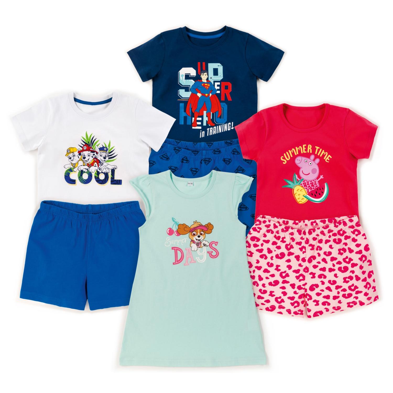 Kleinkinder-/Kinder-Shorty-Pyjama, Baumwolle (BIO)