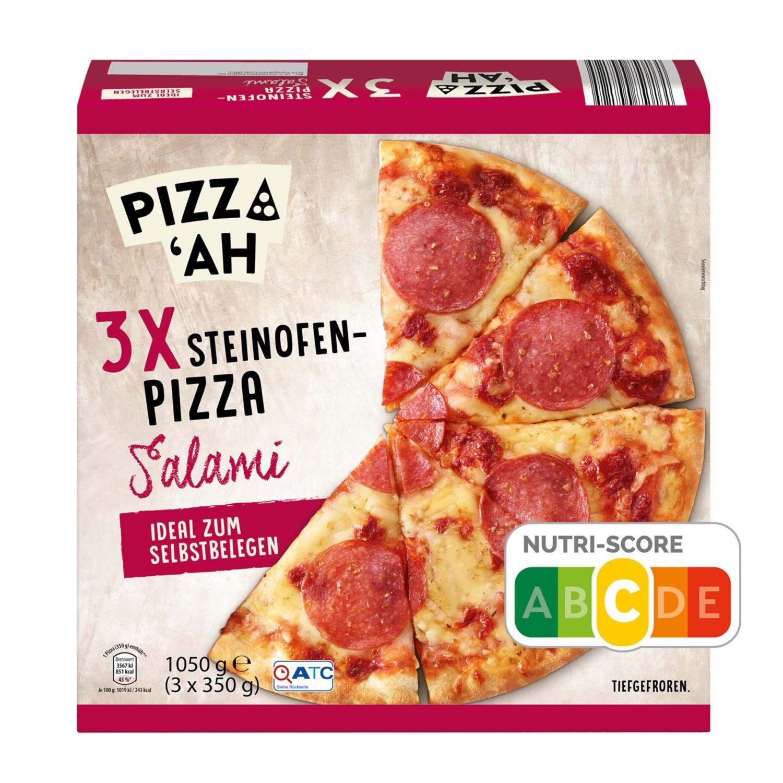 PIZZ'AH Pizza Edelsalami 3 x 350 g