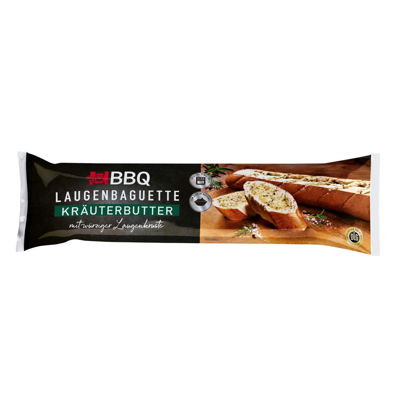 BBQ Laugenbaguette mit  Kräuterbutter 175 g