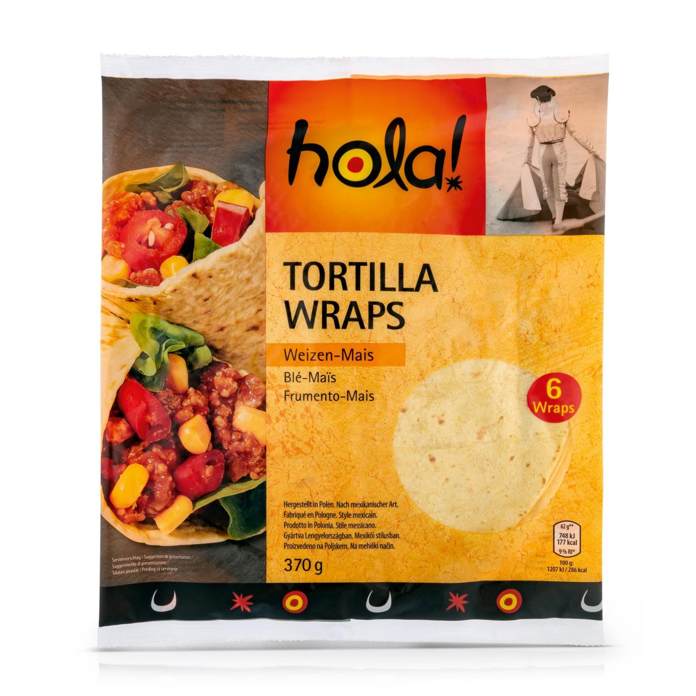 HOLA! Tortilla Wraps Mexico, Mais