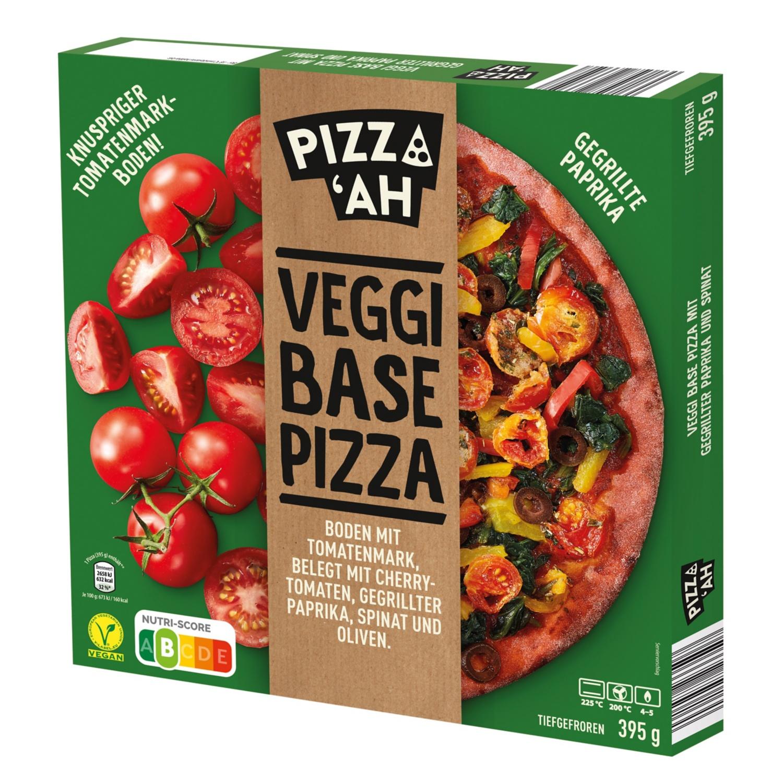 Pizz'Ah Veggi Base Pizza Gegrillte Paprika m. Spinat 395 g
