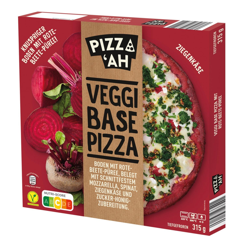 Pizz'Ah Veggi Base Pizza Rote Beete mit Ziegenkäse 315 g
