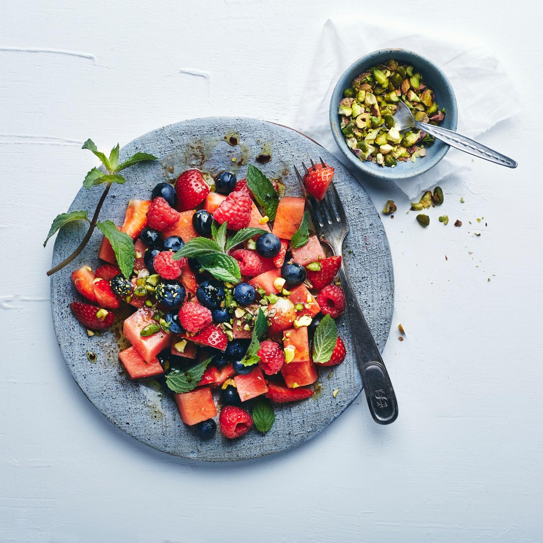 Beerensalat mit Wassermelone