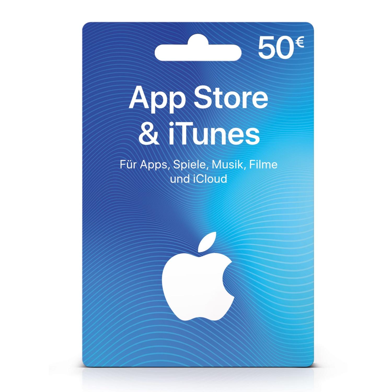 iTunes 50 € - Geschenkkarte für App Store & iTunes