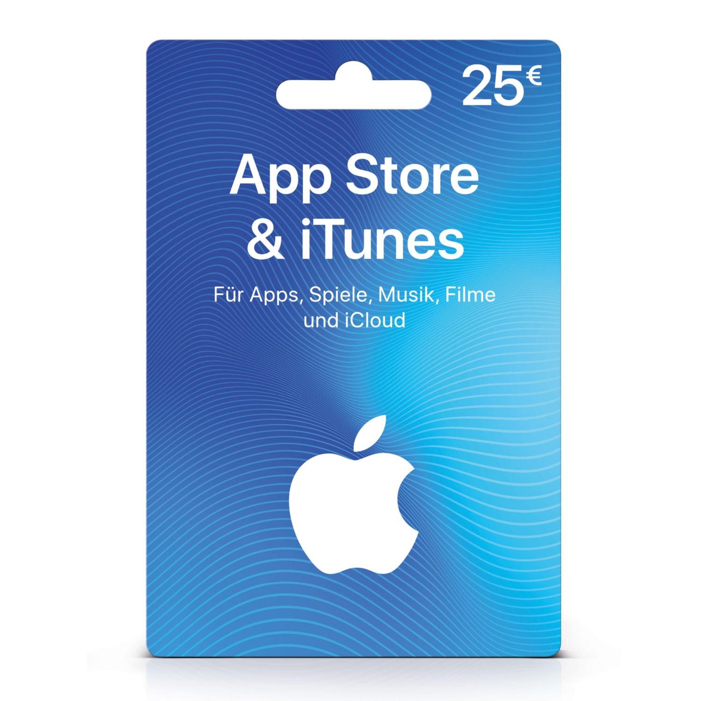 iTunes 25 € - Geschenkkarte für App Store & iTunes