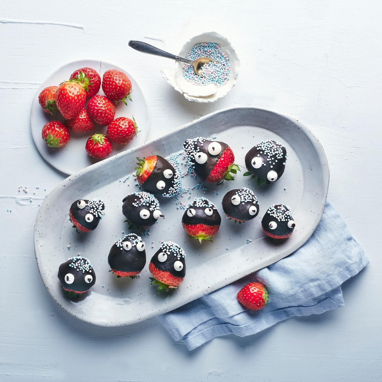 Lustiger Erdbeersnack