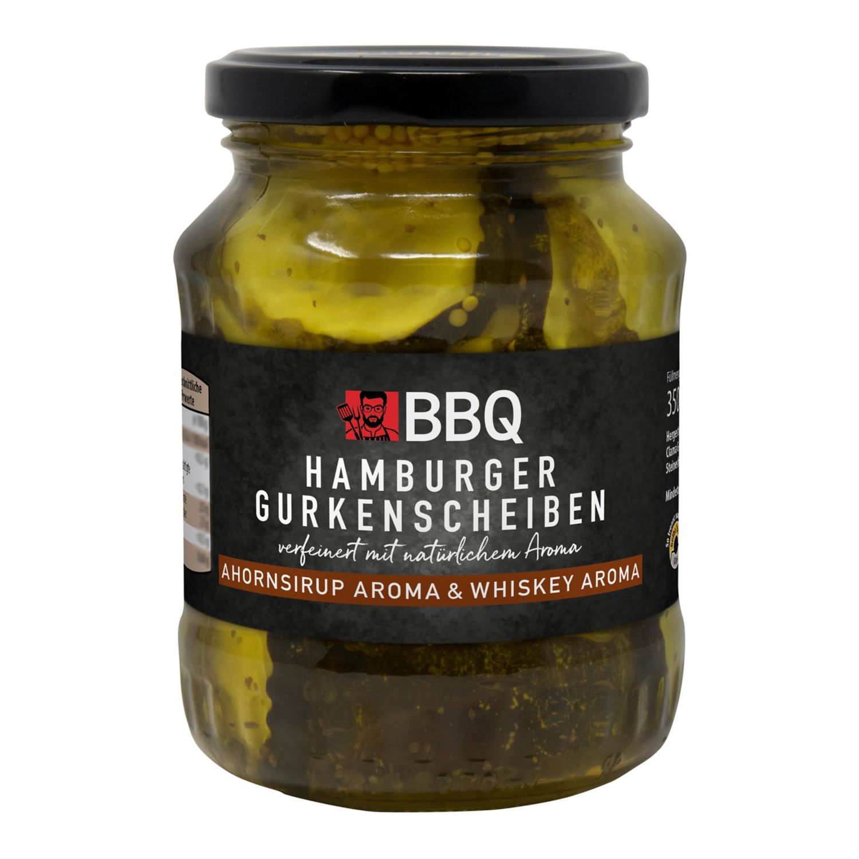 BBQ Hamburger-Gurkenscheiben/Jalapeños 350 g