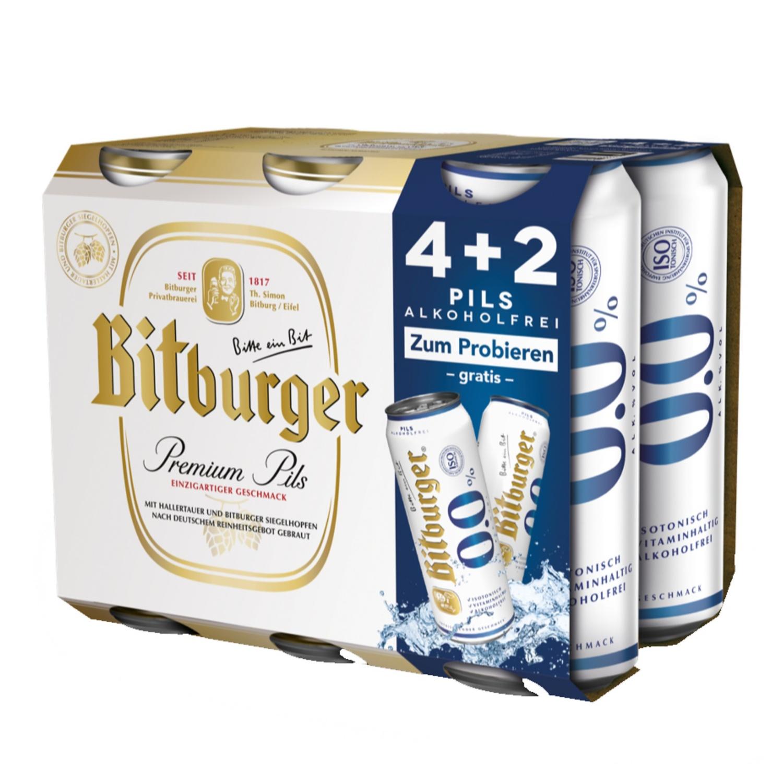 Bitburger Multipack 6 x 0,5 l*