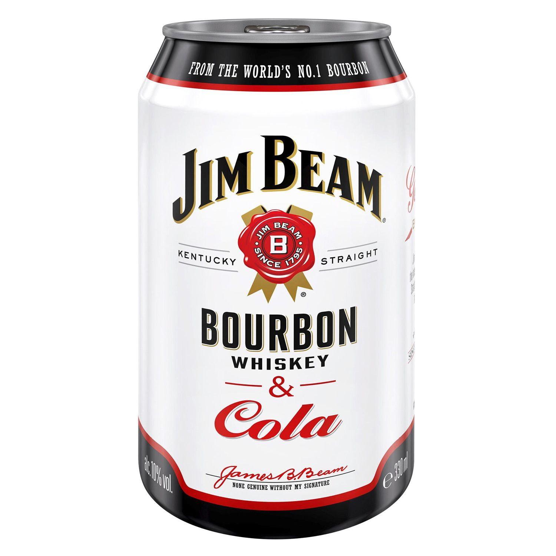 JIM BEAM® & Cola/ Cola Zero/ JIM BEAM® & Black Ice Tea Lemon 0,33 l*