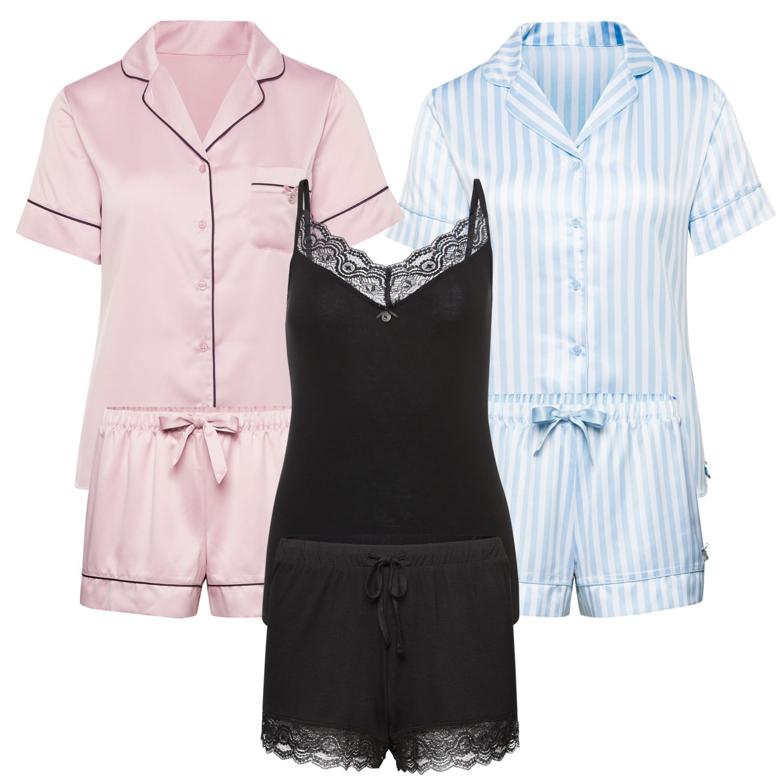 SYLVIE MEIS Damen-Shorty Pyjama