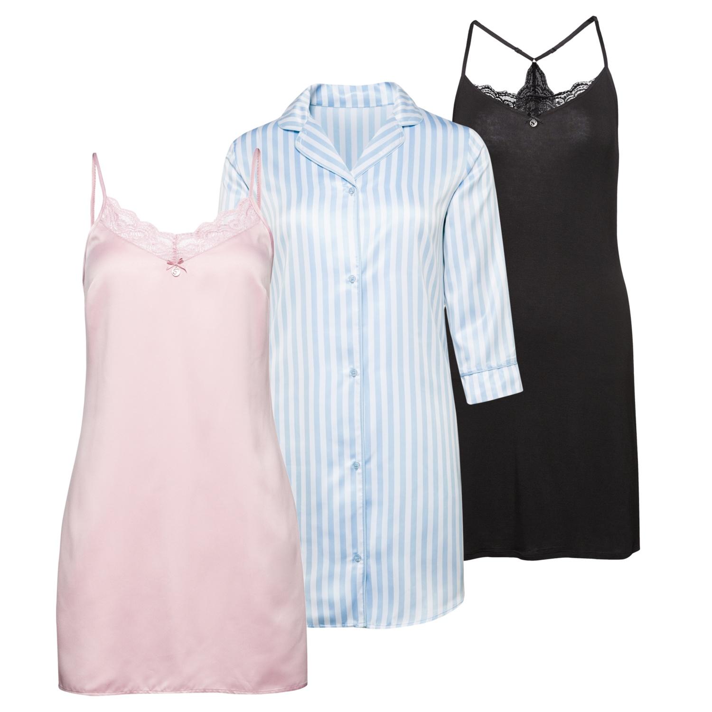 SYLVIE MEIS Damen-Nachthemd mit Schlafmaske