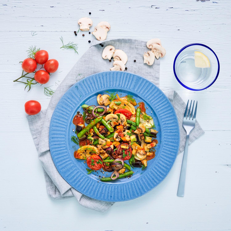 Vegane regionale Gemüsepfanne