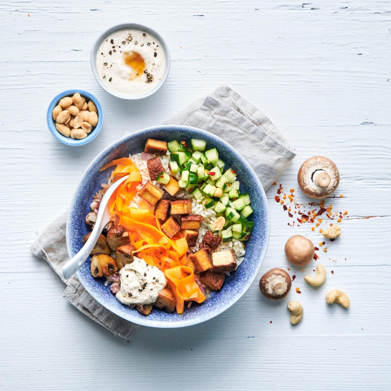Vegane Reis-Bowl