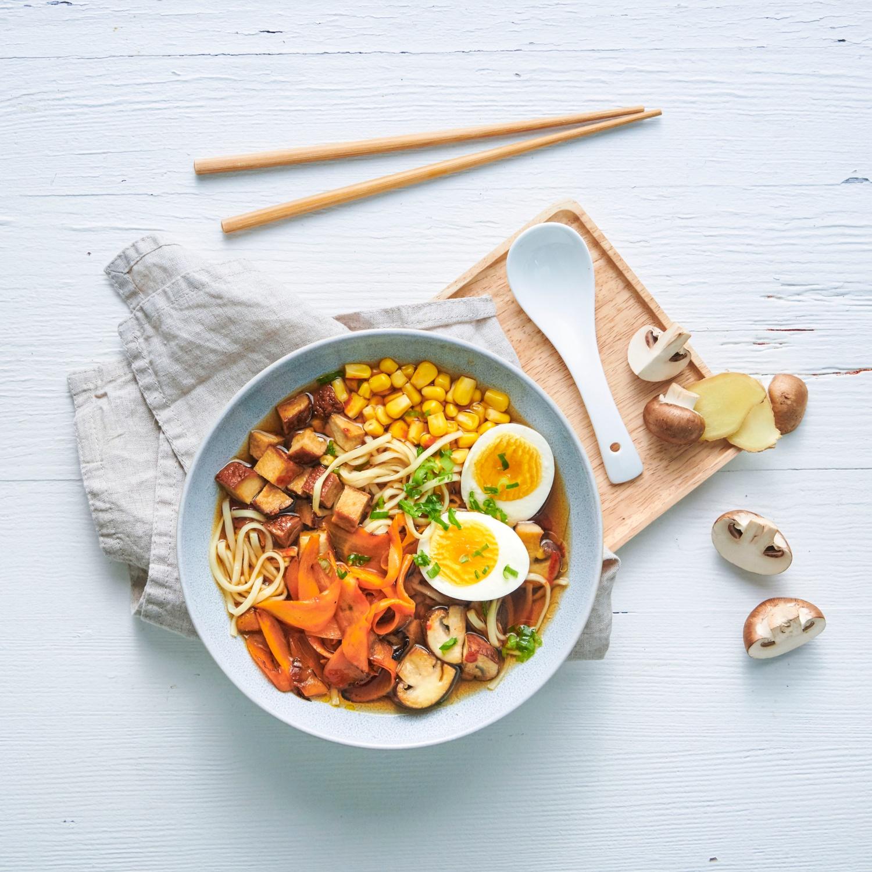 Schnelle Ramen-Suppe