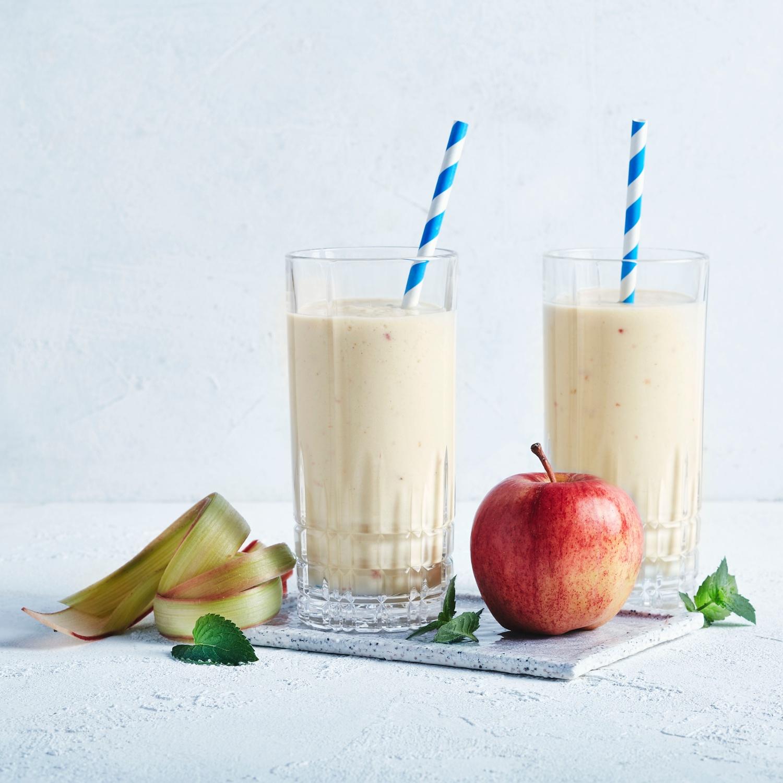 Apfel-Rhabarber-Smoothie