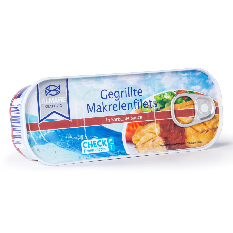 ALMARE SEAFOOD Gegrillte Makrelenfilets, BBQ-Sauce