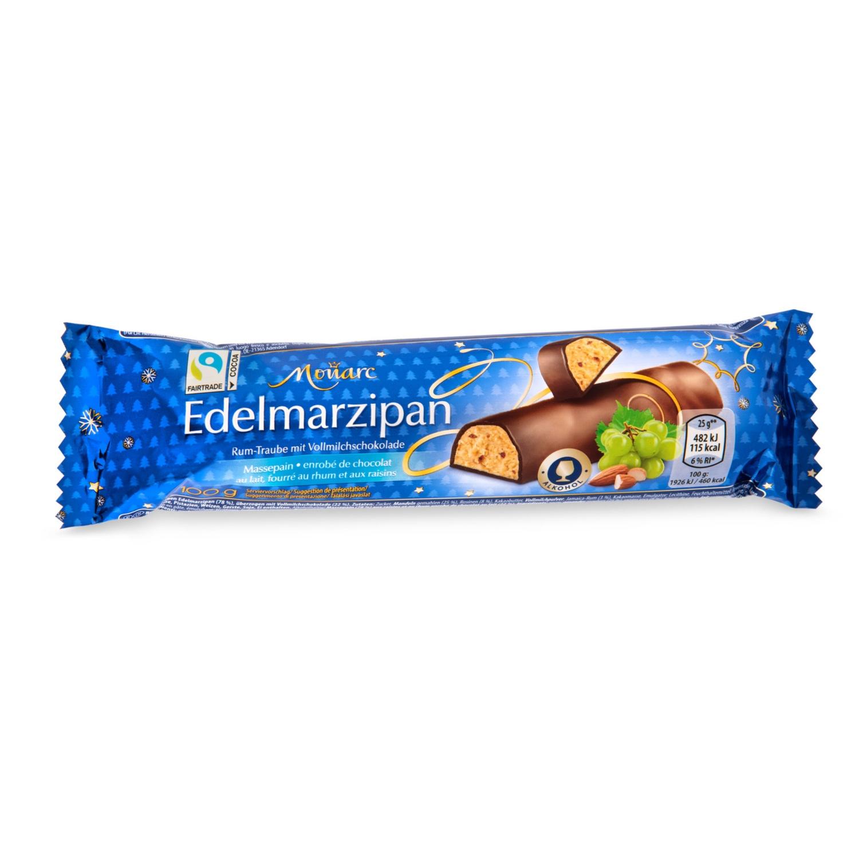 MONARC Edelmarzipan-Riegel, Rum Traube