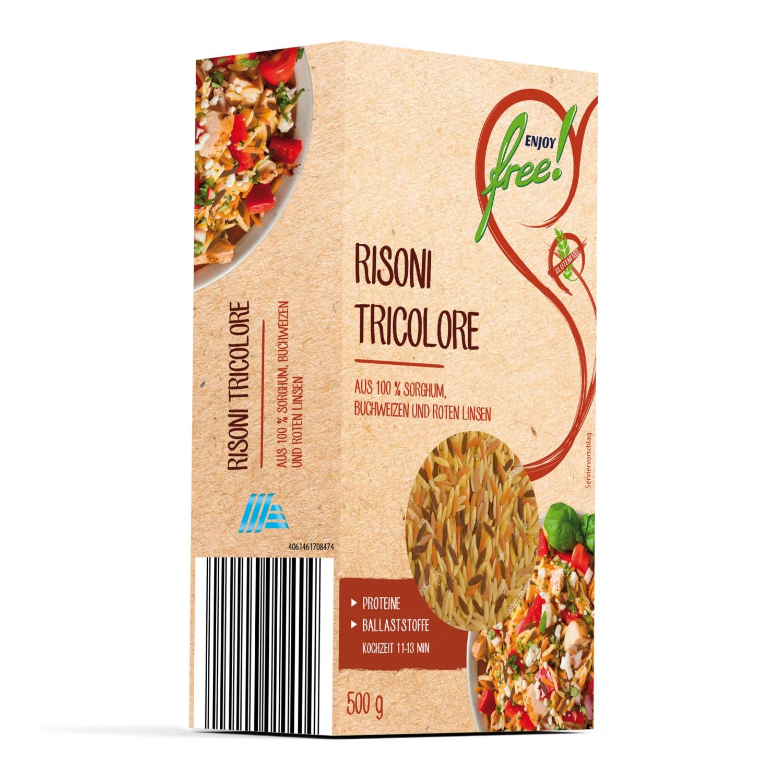 ENJOY FREE! Gemüsepasta Reisform Tricolore