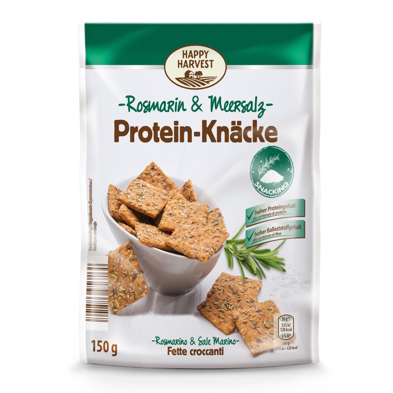 HAPPY HARVEST Protein Knäcke, Rosmarin-Meersalz