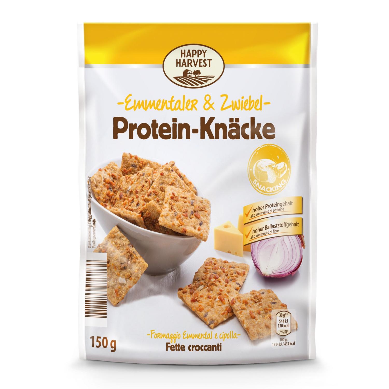 HAPPY HARVEST Protein Knäcke, Emmentaler-Zwiebel