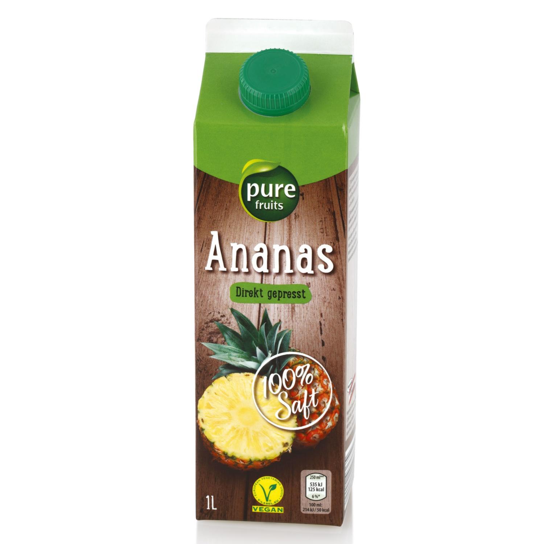 Direktsaft, Ananas