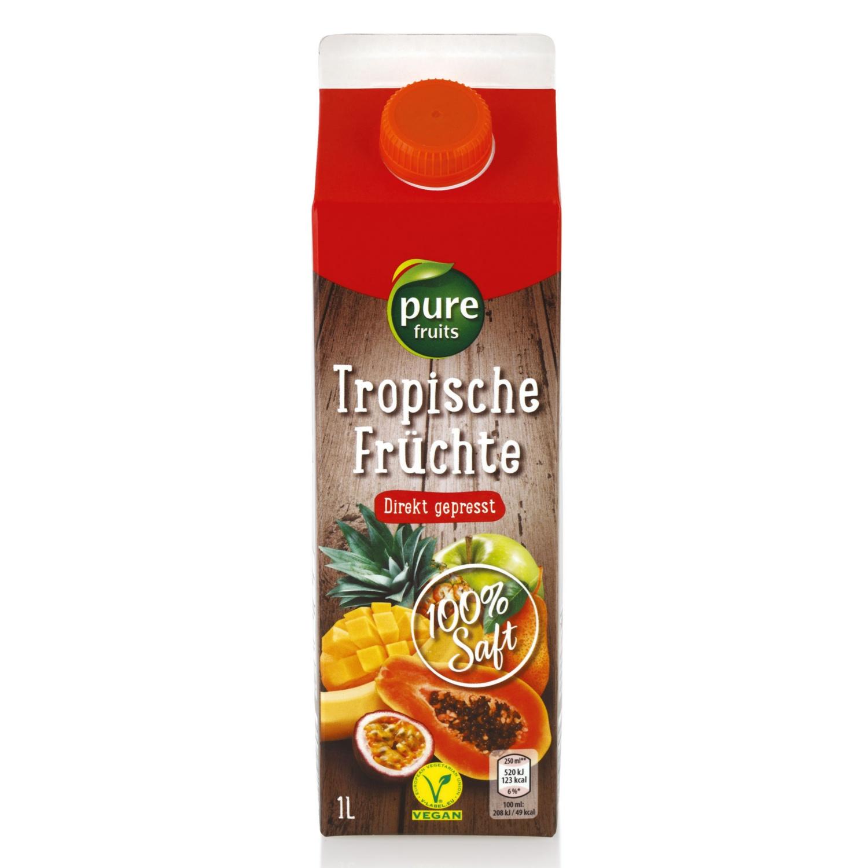 Direktsaft, Tropische Früchte