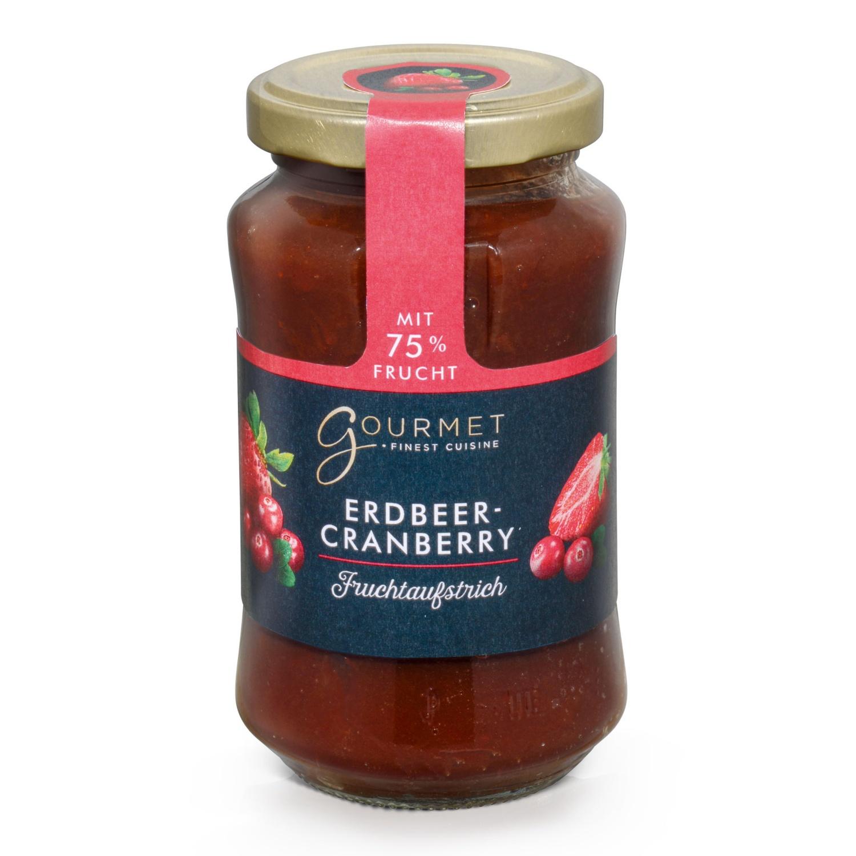 GOURMET Fruchtaufstrich, Erdbeere-Cranberry