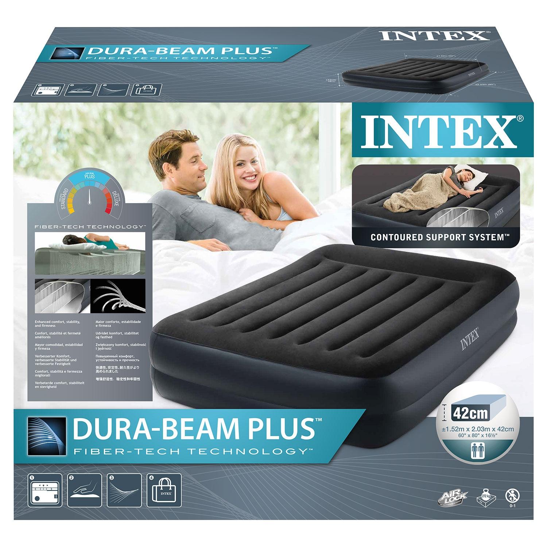 INTEX® Luftbett mit eingebauter Pumpe