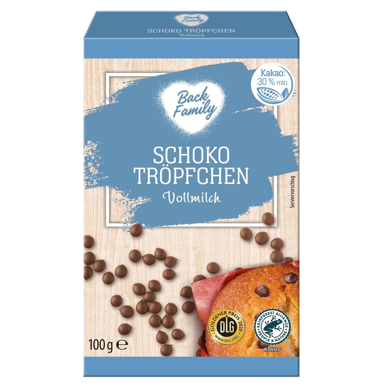 BACK FAMILY Schoko Tröpfchen/Chunks 100 g