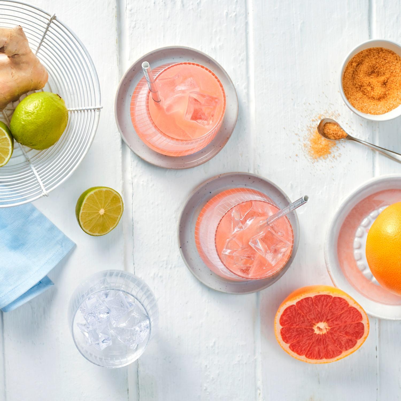 Spritziger Grapefruit-Cocktail (alkoholfrei)