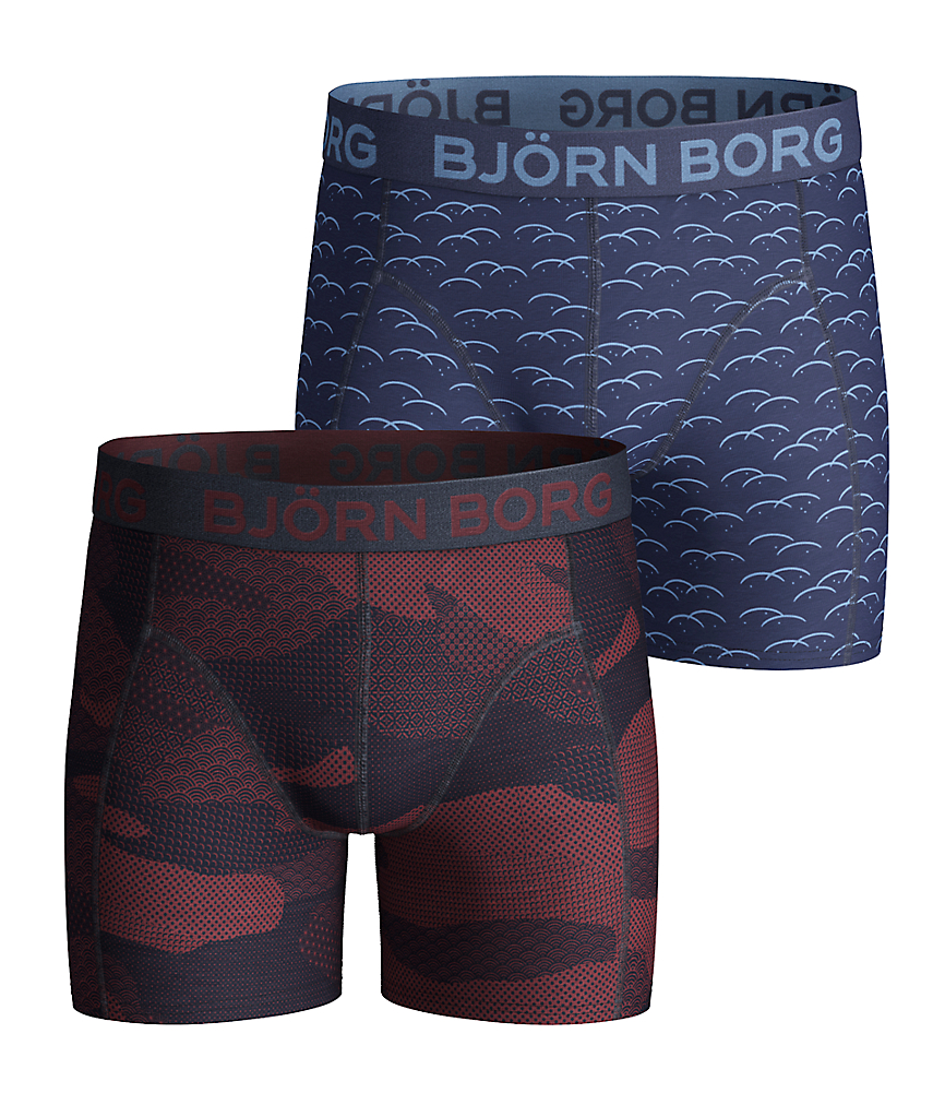 BB Japanese Camo & BB Clouds Boys Shorts Navy 2-pack