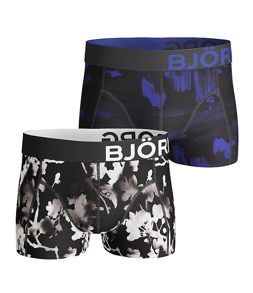 BB Blossom & BB landscape Short Shorts Black 2-pack