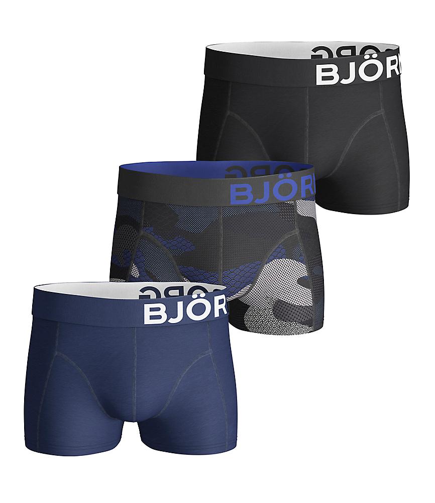 BB Contrast Camo Short Shorts Grey 3-pack