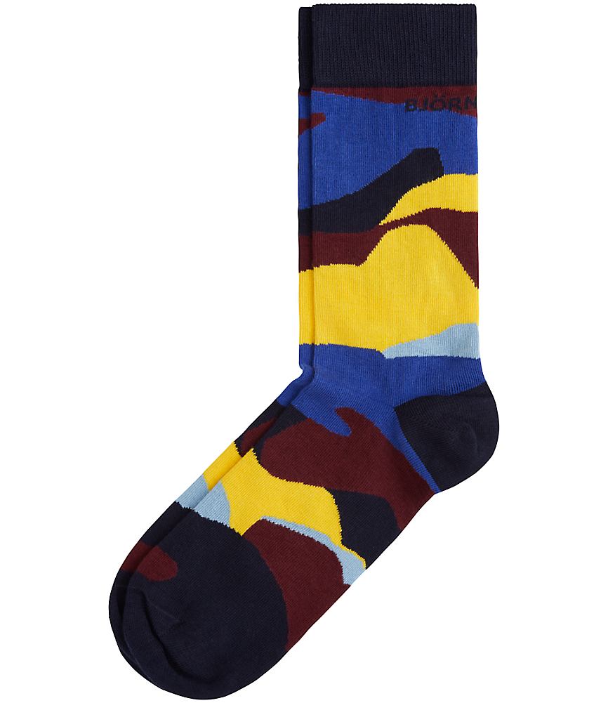 BB Contrast Camo Ankle Socks Navy
