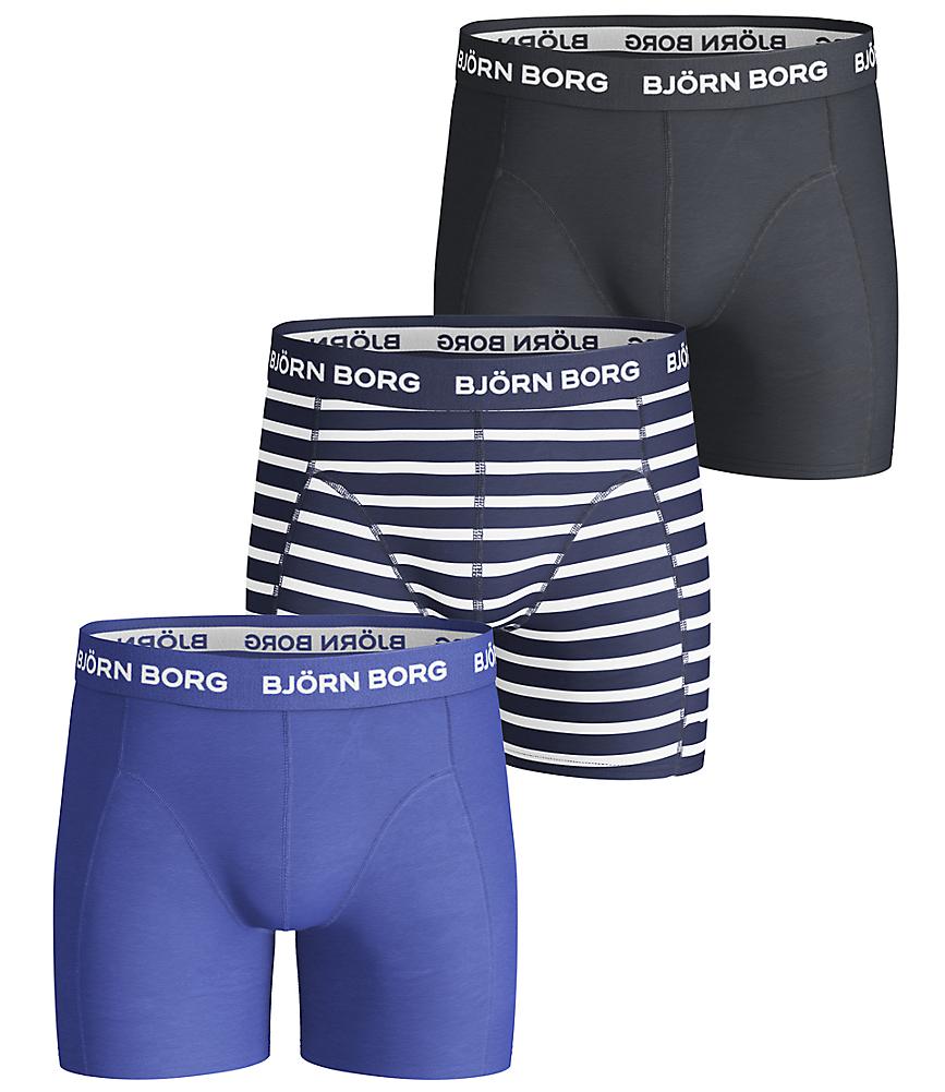 BB Stripe Boys Shorts Blue 3-pack
