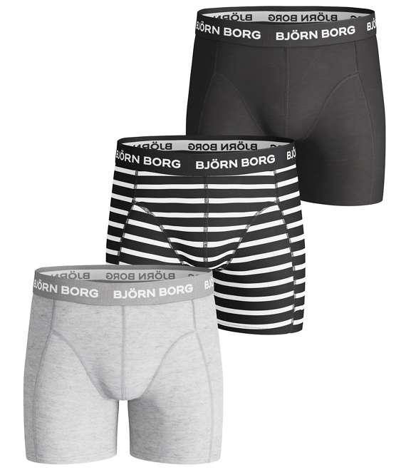 Björn Borg | BOYS SHORTS, BB Stripe, 3-P Black