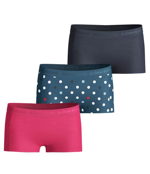 Björn Borg | GIRLS MINI SHORTS, BB Contrast Dot, 3-P Moroccan Blue