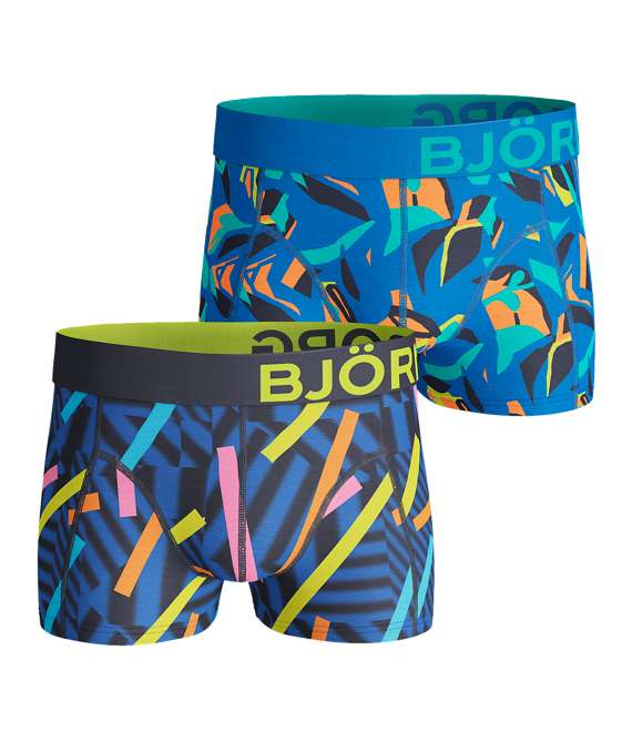 Björn Borg | 2p SHORT SHORTS BB STICKS & BB GRAPHIC Peacoat