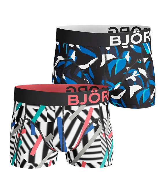 Björn Borg | 2p SHORT SHORTS BB STICKS & BB GRAPHIC Black