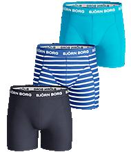 Björn Borg STRIPE Boys Shorts Blue 3-pack