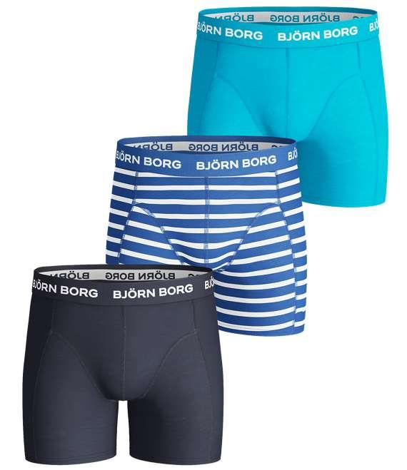 Björn Borg | 3p SHORTS BB STRIPE Directoire Blue
