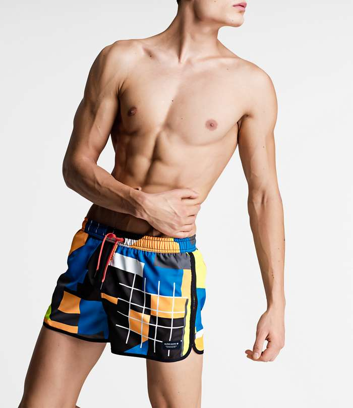 Björn Borg | 1p SWIM SHORTS BB MULTI COLLAGE Electric Blue Lemonade