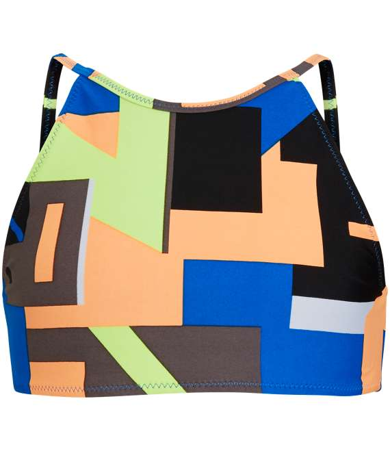 Björn Borg | 1p SPORT BIKINI TOP BB MULTI COLLAGE Electric Blue Lemonade