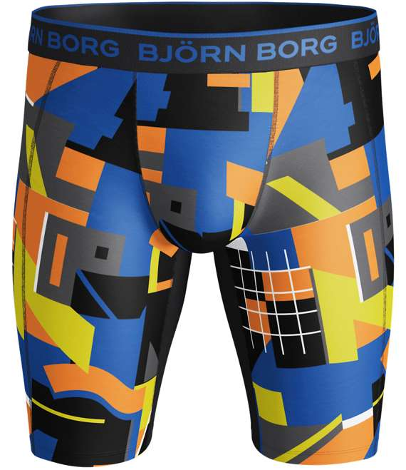 Björn Borg | 1p LONG SHORTS BB MULTI COLLAGE Black