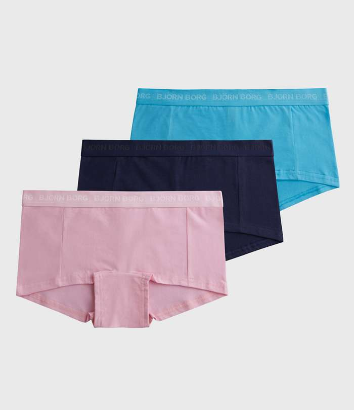Björn Borg | 3p MINISHORTS SEASONAL SOLIDS Pink Lady