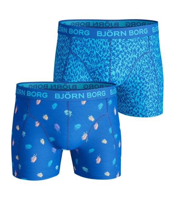 Björn Borg | Björn Borg MULTI PALM & ZIGGY Cotton stretch SHORTS BLUE 2-pack