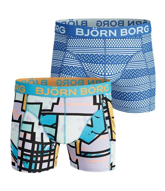 Björn Borg | 2p SHORTS BB MULTI COLOUR & BB SHAPES Aquarius